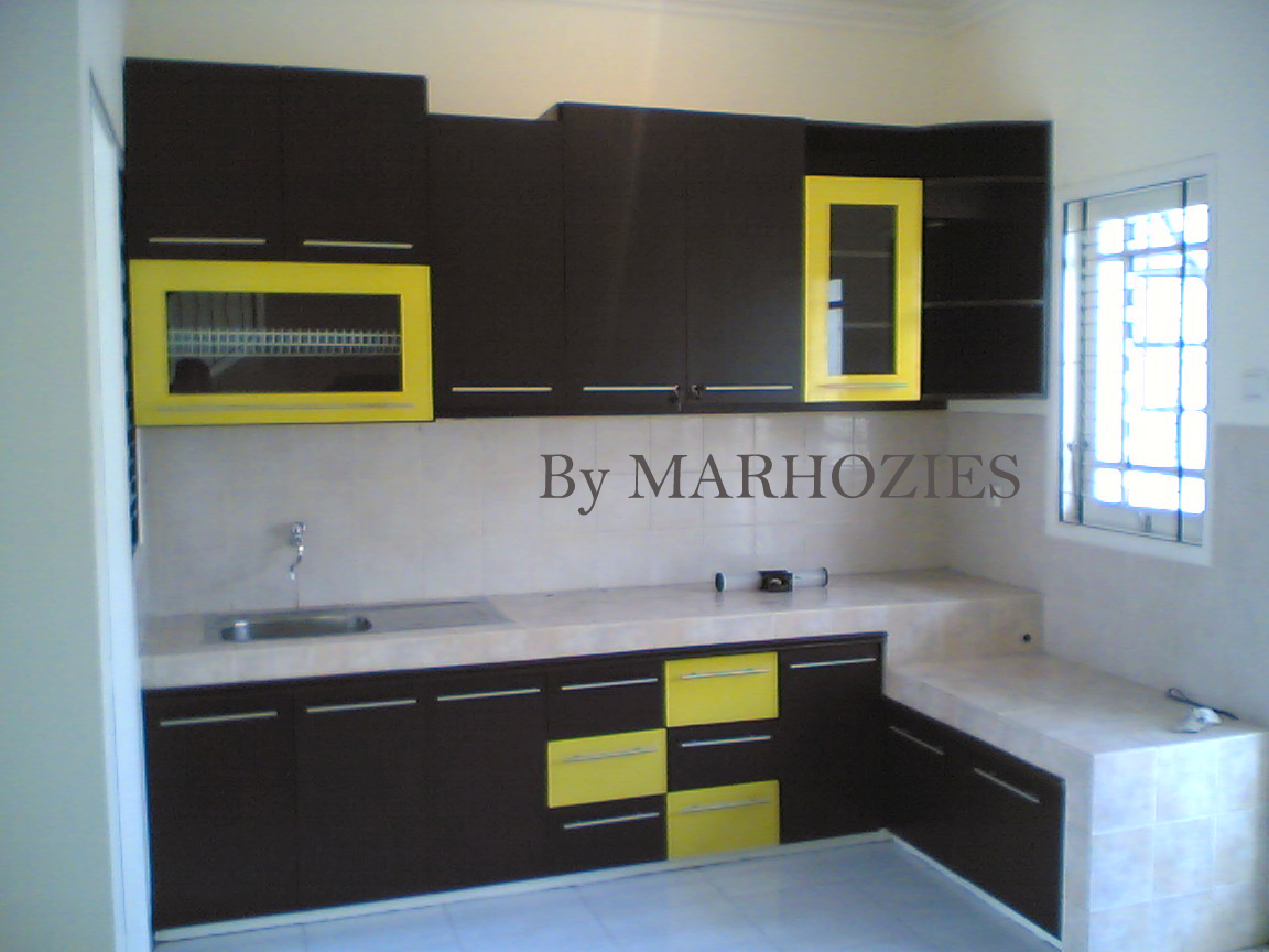 Kitchen Set Minimalis Sederhana Marhozies Furniture Indonesia