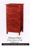 5 Drawer Chest.