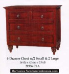 4 Drawer Chest/ 2 Small & 2 Large.