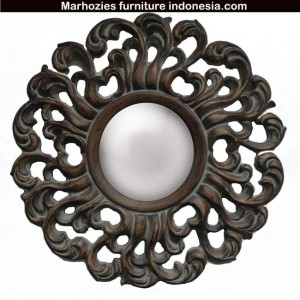 Traditional-Decorative-Round-Framed-Mirror-in-Antique-Brushed-Walnut